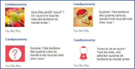 Candyscovery Facebook ads