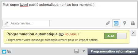 programmation automatique tweet