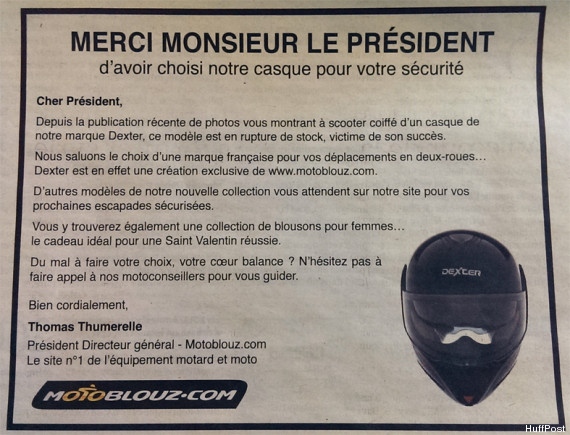 affaire hollande gayet moto blouz