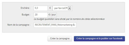 budget campagne facebook f-editor