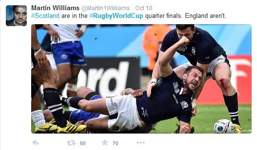hashtag #RugbyWorldCup