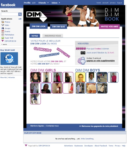 Dim Dim Book Application Facebook