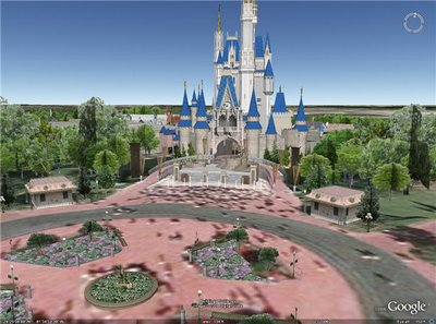 Disney World dans Google Earth