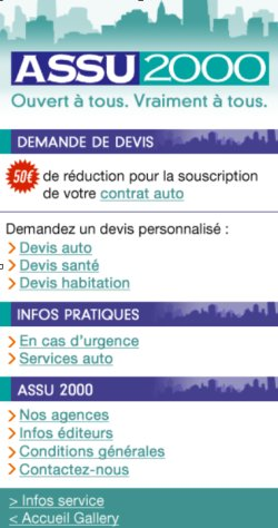 Site mobile ASSU 2000