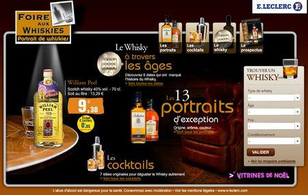 Foire aux whiskies - Leclerc