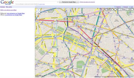 calque transports parisiens google maps