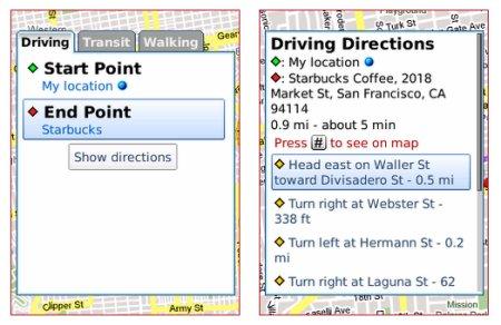 trouver enseigne google maps mobile