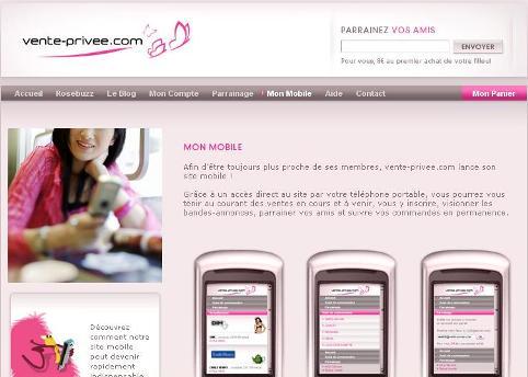Vente priv e et web mobile - Vente privee outils ...