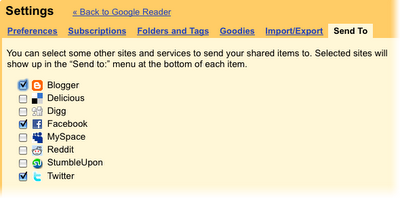 partage sur google reader