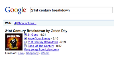 google musique search
