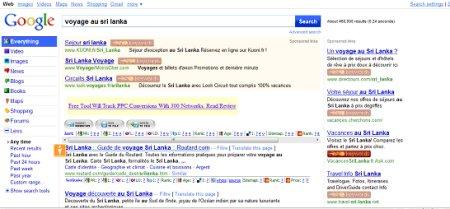 google avec rubriques