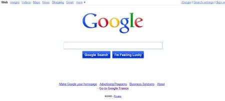 google homepage apres