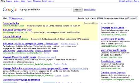 google sans rubrique