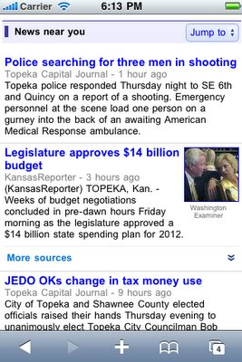 google news mobile local