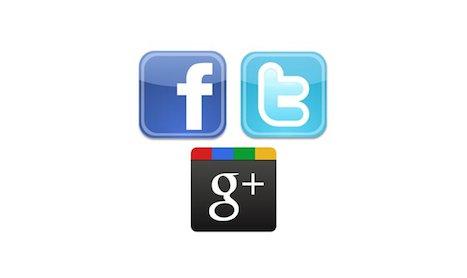Classement Twitter, Facebook et Google Plus