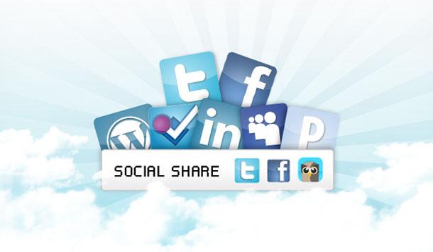 """Multiplier les partages via les réseaux sociaux sur son blog Wordpress grâce à une """"sharebar"""""""