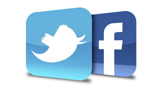 logo facebook and twitter