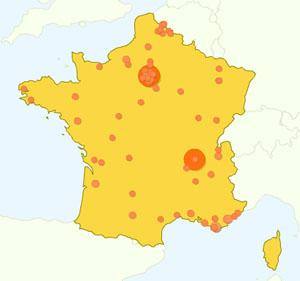 Carte des visites - Google Analytics