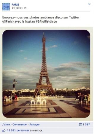 Page Facebook Paris animation