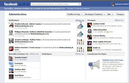 Administration page facebook