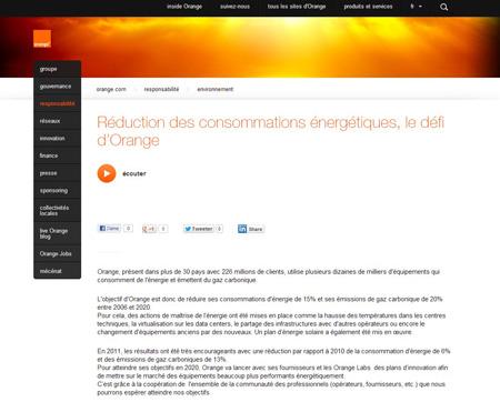 Site corporate Orange