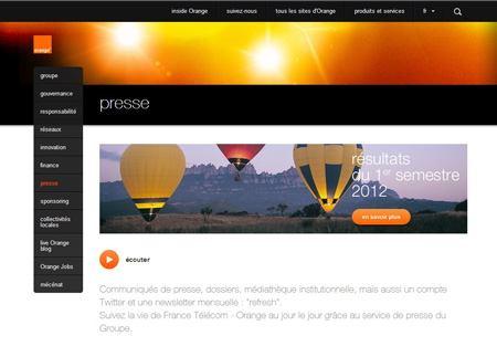 Site corporate Orange