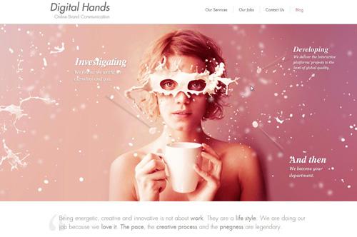 site effet parallaxe digital hands