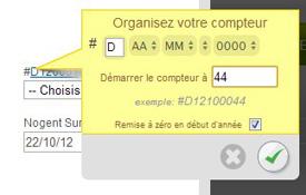 systeme numérotation facturation en ligne