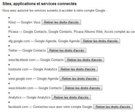 On peut supprimer facilement l'accès d'applications à son compte Google