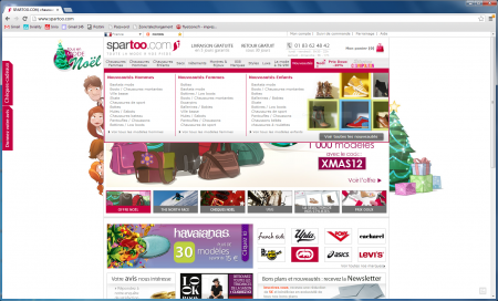spartoo.com adopte le menu riche en e-commerce