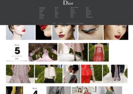 site tumblr de Dior