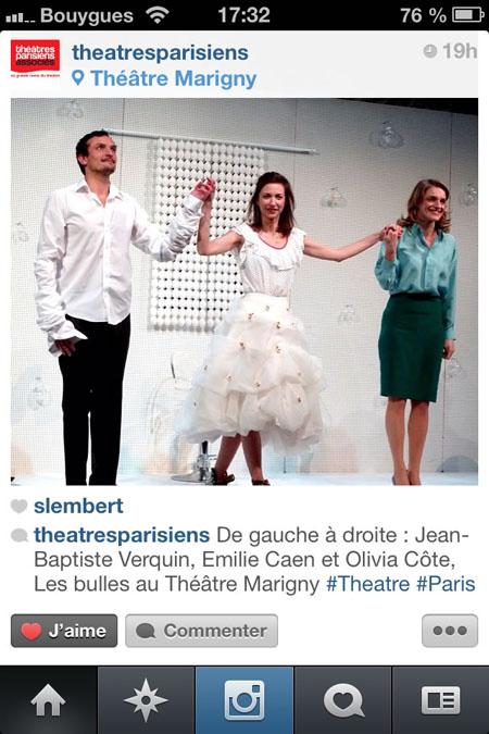 instagram théâtres parisiens