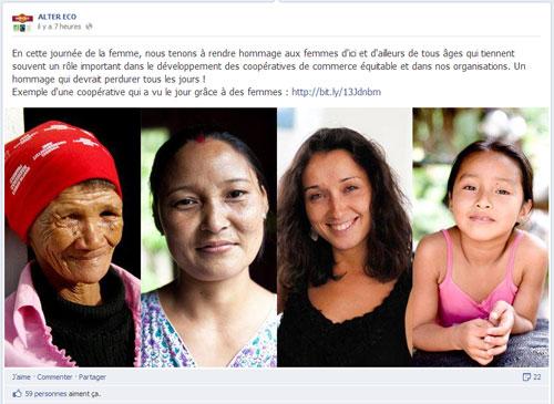 journée femme facebook Alter-Eco