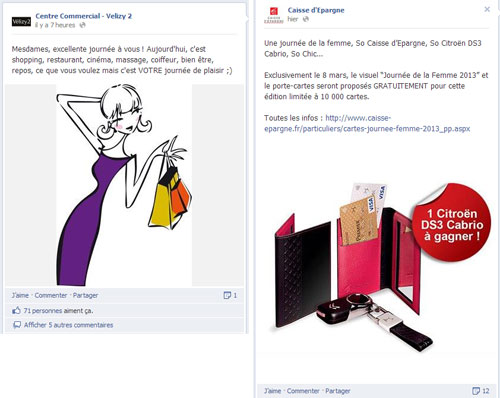 La  journée internationale des droits des femmes sur Facebook