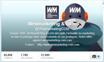 Twitter Webmarketing & co'm