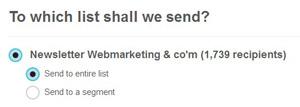 Créer une newsletter : base email newsletter mailchimp