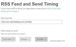 Créer une newsletter : newsletter rss mailchimp