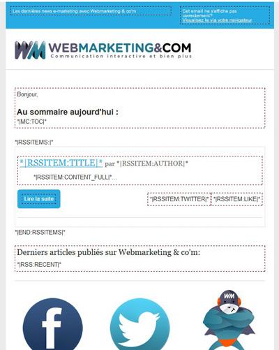 Créer une newsletter : template newsletter mailchimp