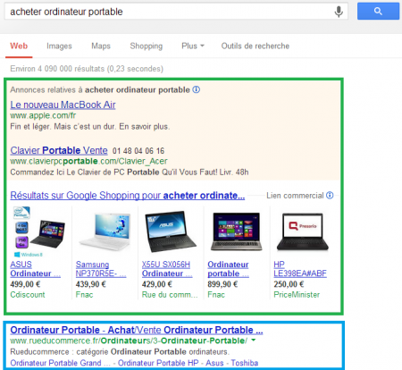 exemple pc portable seo sea