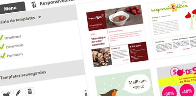 Galerie de templates responsive  - responsivEditor - EmailStrategie