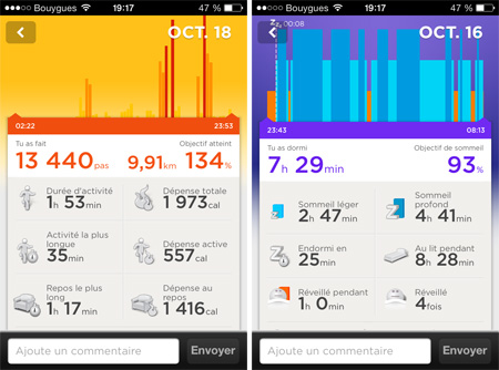 application mobile up jawbone