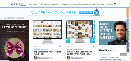 Screenshot de Home BlogHer