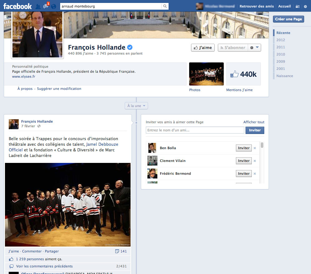 Digital: Il est possible, sur Facebook, de liker les photos de François Hollande ou de commenter sa conférence de presse