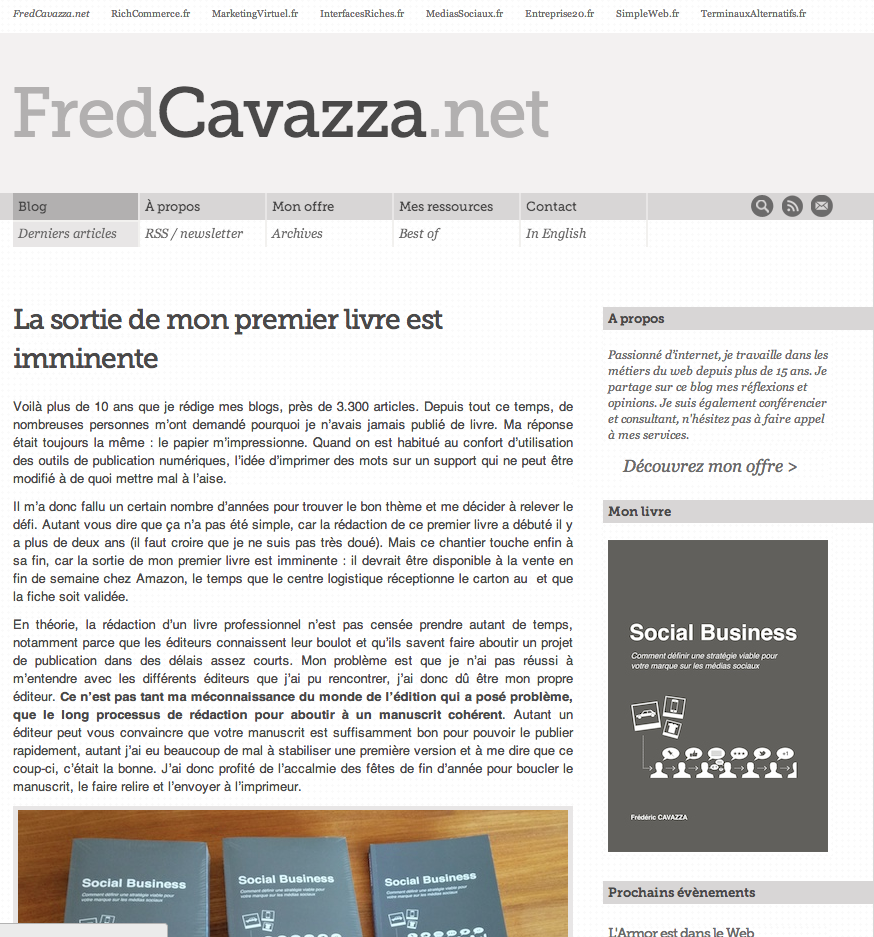 Digital: Fred Cavazza, symbole de la construction de la crédibilité via le web !