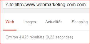 Résultats Google Site: