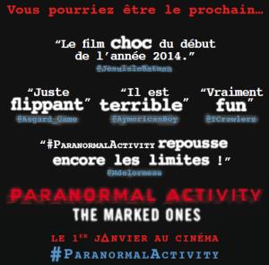 Digital: L'affiche de Paranormal Activity ne met plus en avant les critiques des journalistes mais celles des twittos !