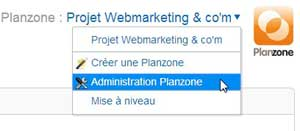administration outil gestion projet planzone