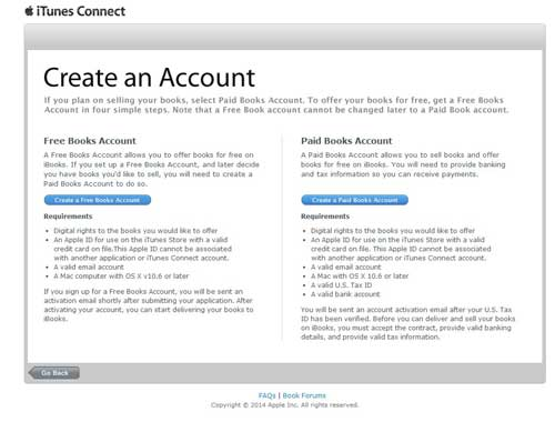 creer compte itunes connect