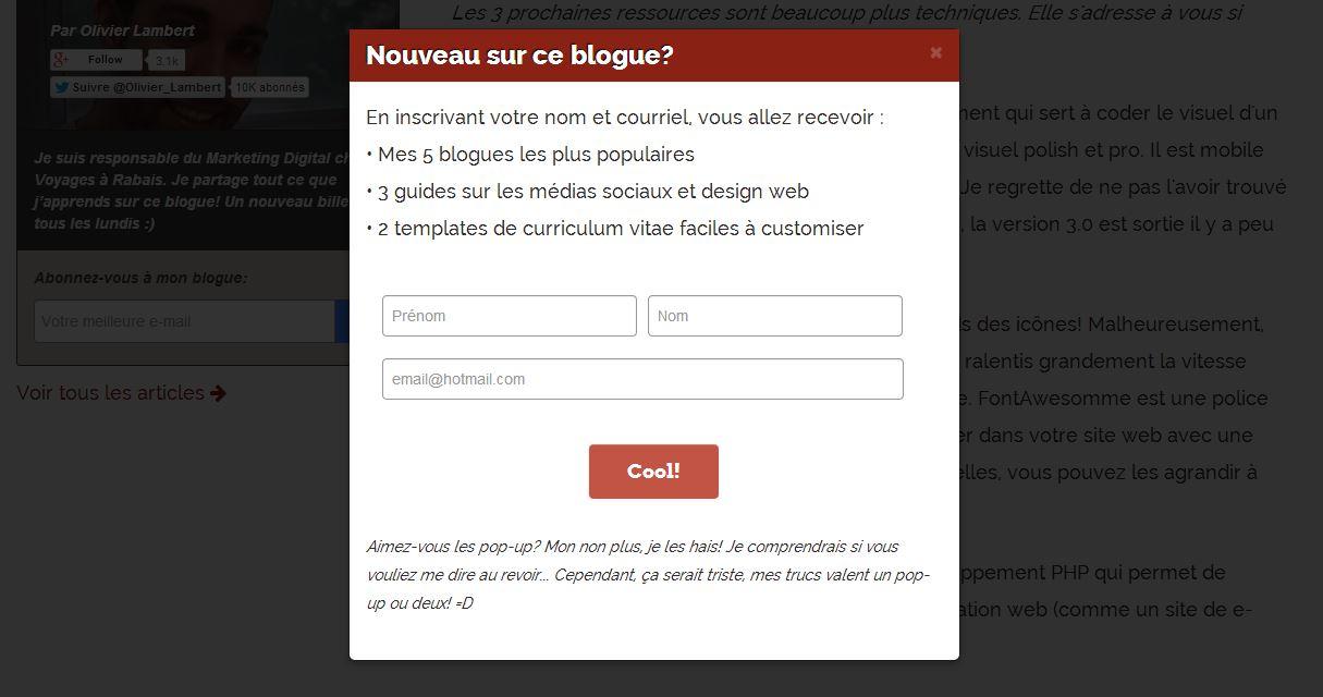 Devriez Vous Avoir Un Pop Up Sur Votre Site Web