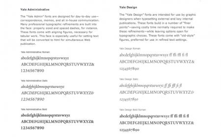 Typographie de Yale